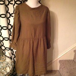 Anthropologie Lacausa Olive Tunic Dress